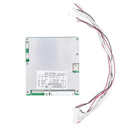 Batterieschutzmodul, 16 Strings 30A 3,7 V HP24SA-16 Lithium-Li-Ion-Polymer-Batterie PCB BMS-Zellenschutz Balanced Board mit gleichem Anschluss 30a-anschluss