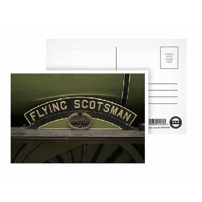 Flying Scotsman Sign - Postcard (Pack of 8) - Highest Quality