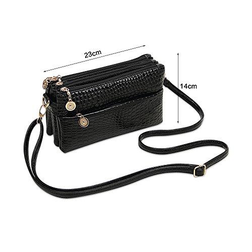 Borsa delle signore della borsa del corpo del sacchetto trasversale della borsa delle donne della borsa delle donne di modo di Ya Ya Nero