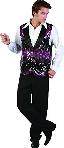 Ridere e coriandoli - FICFA 014 - Per Costume adulto - Lilla Giacca Charleston Dancer - Uomo - Taglia Xl