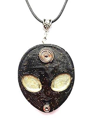 Collier pendentif Orgone Ufo Alien, Shungite, Amazonite, Nouvel Age, Reiki