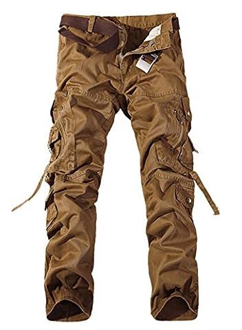 Pantalon Treillis Vintage - Panegy - Homme Pantalon Cargo Loisir Muliti-Poches