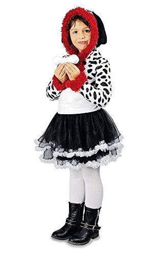 Dalmatiner Kostüm für Mädchen Gr. 116 ()