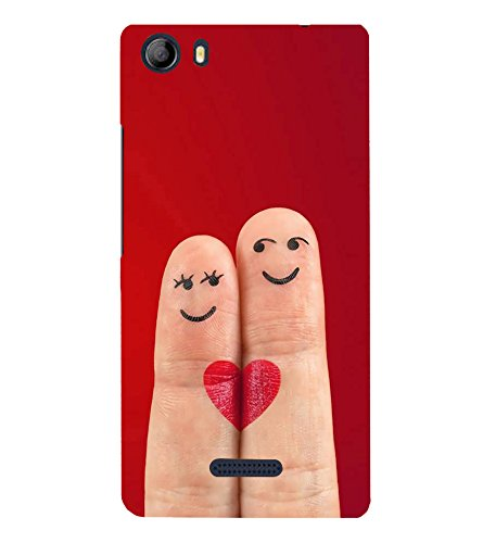 Smiley Fingers 3D Hard Polycarbonate Designer Back Case Cover for Micromax Canvas 5 E481  available at amazon for Rs.281