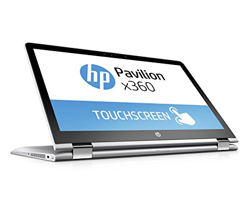 HP Pavilion x360 (15-br009ng) 39,6 cm (15,6 Zoll / FHD-IPS) Notebook (Intel Core i5-7200U, 256 GB SSD, 8 GB RAM, Intel HD-Grafikkarte 620, Windows 10 Home 64)  silber