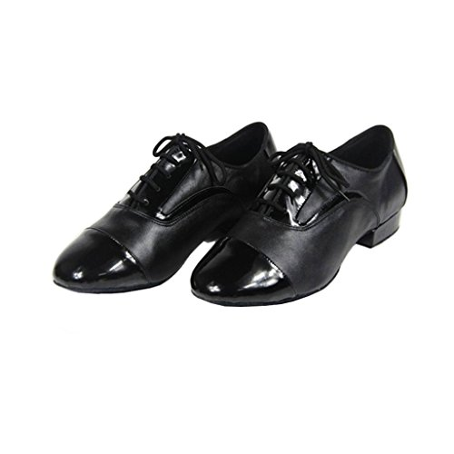 Doris M103 Men's Salsa Ballroom Tango Latin Social Dance Shoes Schwarz