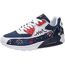Zapatillas Running para Hombre Aire Libre y Deporte Mesh Malla de Tela de Flores Net para