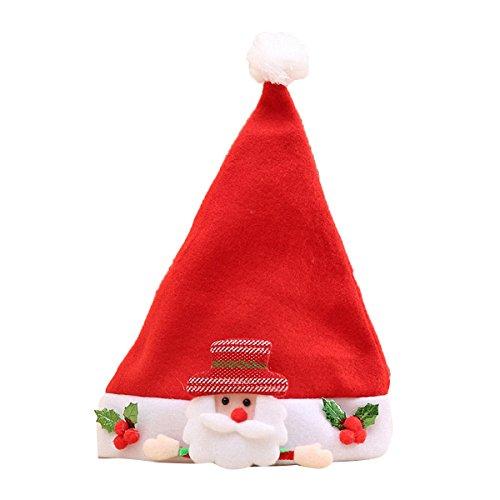 Lemonda Weihnachtsmütze Kinder Nikolausmützen Junge Mädchen Weihnachtsmützen Nikolausmütze verschiedene Modelle kuschelweich & angenehm zu tragen Für Kinder (1)