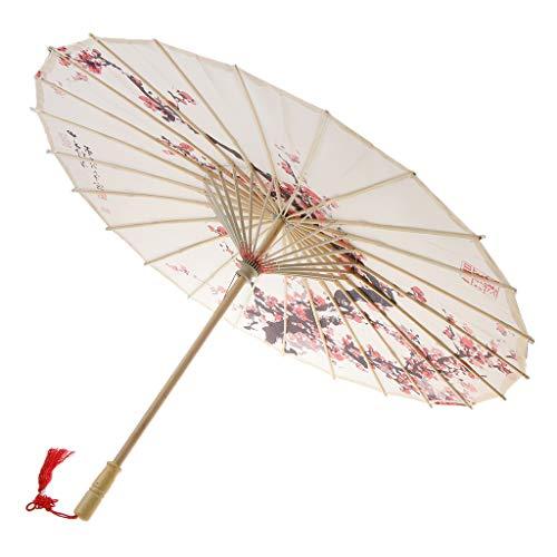 D DOLITY Retro Papierschirm Regenschirm Sonnenschirm Tanz Schirm Deko Schirm, Klassischer Chinesischer Muster - 8