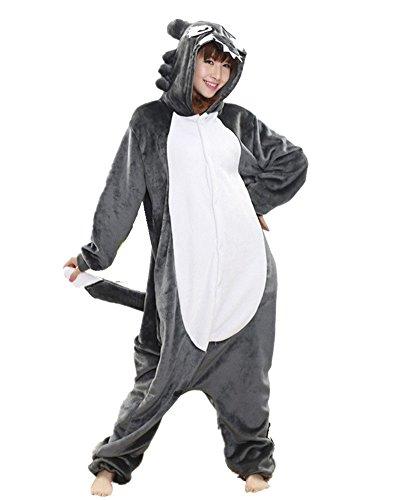 Combinaison Pyjama - Unisexe Adulte Animaux Cosplay Costume Kigurumi Halloween Déguisement Loup S