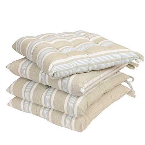 Dibor - Juego Cojines algodón Silla Lazos Exteriores