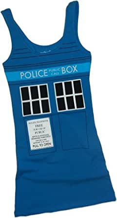 Tardis Costume -- Doctor Who Fitted Juniors Tank-Top Shirt, X-Large