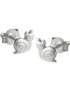 Unbespielt Schmuck Ohrschmuck Kinder Ohrringe Ohrstecker Schnecke aus 925 Silber 5 x 6 mm