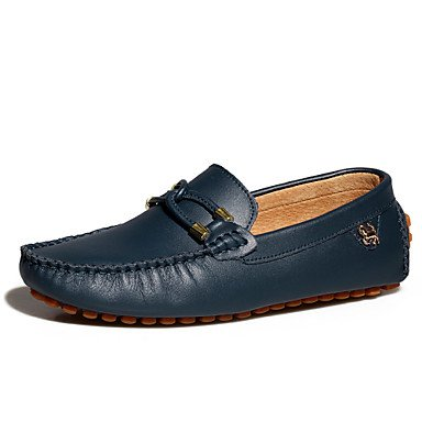 Chaussures d'hommes et de l'emploi de bureau/Trotteurs en cuir décontracté noir/bleu/marron Black