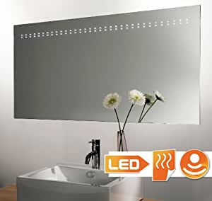 miroir chauffant clairage led avec d tecteur 120x60 cm. Black Bedroom Furniture Sets. Home Design Ideas