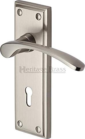 Hilton Lever Lock (Set of 2) Finish: Satin Nickel
