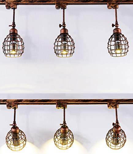 Deckenstrahler Deckenspot Deckenleuchte LED Deckenlampe Innen Beleuchtung Flur drehbar verstellbar Treppenhaus Mall Deckenleuchte Superhell 3 Köpfe E27, Größe: 9 * 9 * 35 CM (Braun)