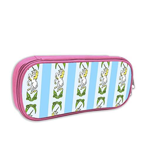 Helen vi Federmäppchen für Kinder mädchen,Unicorn Ribbon 1 Blue_5021, pink