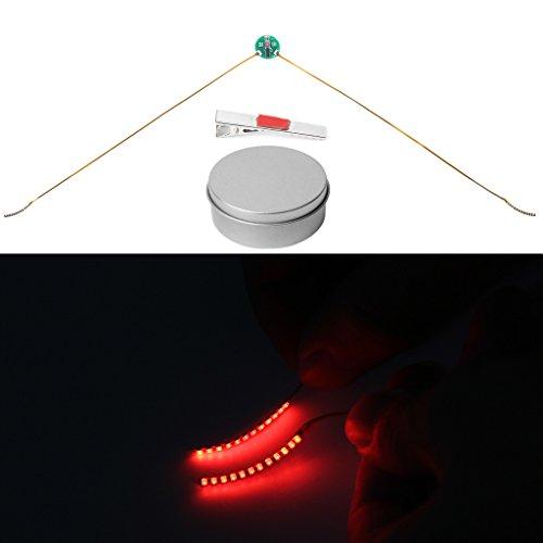Dairyshop Reizend wasserdichte LED-Wimpern Luminous Augenlid Tape Glowing False Eye Wimpern, Halloween Geschenk (Rot)