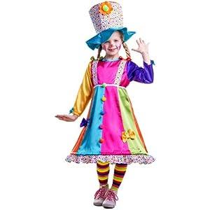 Dress Up America - Disfraz de payasa con lunares  para niños, multicolor, talla L, 12-14 años (852-L)