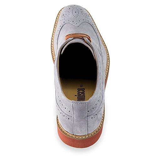 Masaltos - Chaussures rehaussantes pour homme. Jusqu'à 7 cm plus grand! Modèle Corby B Gris