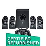 (Certified REFURBISHED) Logitech Z506 5.1 Channel Surround Sound Multimedia Speakers (Black)