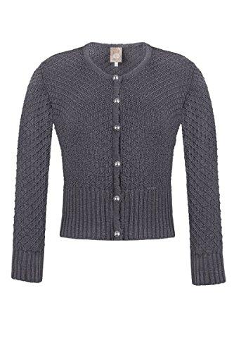 MOSER Trachten Strickjacke grau Marlene 003188 von MOSER®, Material Baumwolle, Größe 34