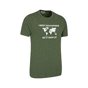 Mountain Warehouse Grid Map Te de Mens del Mapa de la Rejilla – Camiseta Ligera del Verano, Breathable, Camisa de la te de la impresión de la Calidad, Cuidado fácil