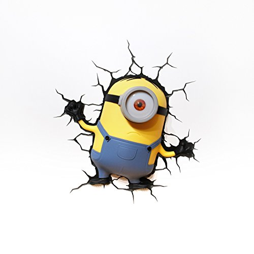 Image of Despicable Me Minions 3D Wall Light (Stuart)