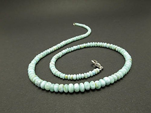 Larimar necklace 42 cm Larimar beads / Atlantis stone from the Caribbean / Pectolite natural gemstone present collier blue 6 to 4.5 mm