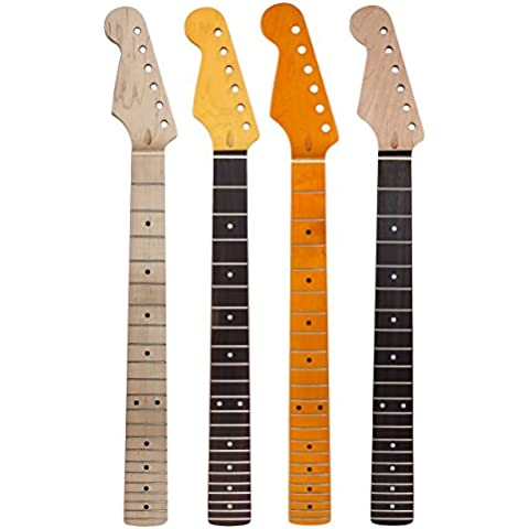 Kmise Lefty–Guitarra eléctrica cuello 22trastes de Arce Madera de palisandro para Fender Stratocaster de repuesto Set de