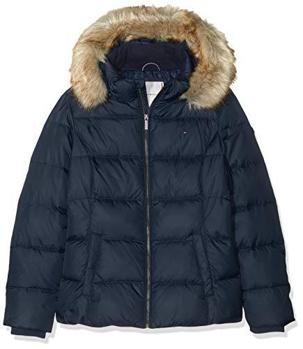 Tommy Hilfiger Mädchen Essential Basic DOWN Jacket Jacke, Blau (Blue 002), (Herstellergröße:10)