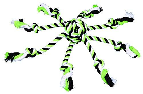 Trixie Denta - Corda divertimento con tessuto in palla per cane, colori assortiti