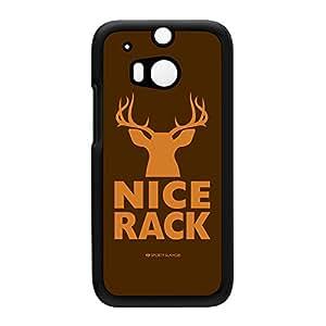 Sporty - Nice Rack #20031 Coque Rigide Plastique Noire Snap-On Protection Arrière pour HTC® One M8 de Sporty Slang + Livré avec une protection d'écran GRATUITE
