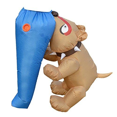 Fett Hunde Für Kostüm - LOVIVER Party Aufblasbares Kostüm Fatsuit Luft Fett Anzug Hund Biss Ass Aussehen