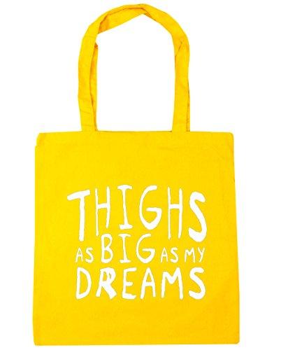 hippowarehouse-sac-de-plage-femme-jaune-taille-unique