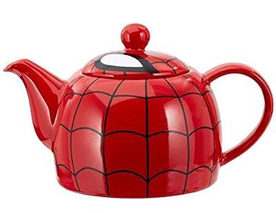 en céramique Spiderman Théière avec détails Motif