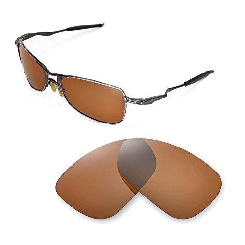 Walleva Ersatzgläser für Oakley Crosshair 1.0 (2005-2006 Version) Sonnenbrille - Mehrfache Optionen (Braun - polarisiert)