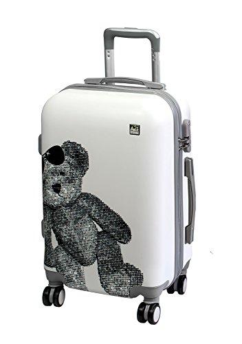 A2S Cabin gepäck ist leicht und langleib Hard shell Koffer mit 8 spiner räder tasche ( Flugzeuge) teddybär 55x35x20 ()