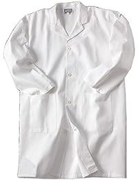 Blouse blanche de chimie, taille 10 à 16 ans, 100% coton, pour laboratoire scolaire