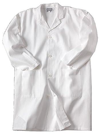 Blouse blanche de chimie, taille 10 à 16 ans, 100% coton, pour laboratoire scolaire (16ans)