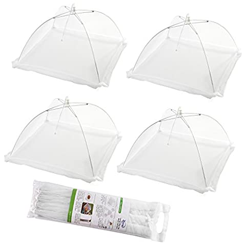 (Set of 4) Large Pop-Up Mesh Screen Food Cover Tents