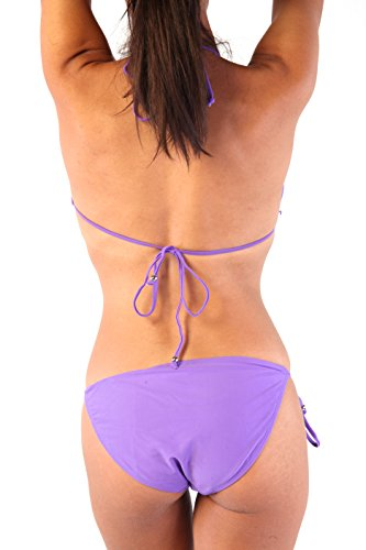Ingear Neon Solid Bikini Swimsuit Purple