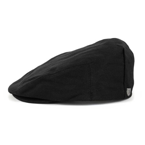 Brixton Cap Hooligan Black Herringbone Twill-XL Twill-fitted Cap