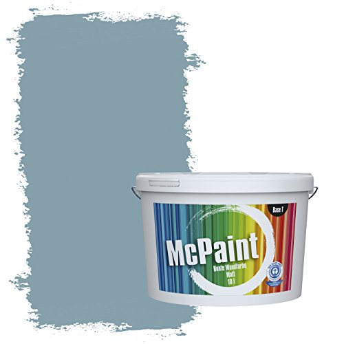 McPaint Bunte Wandfarbe Taubenblau - 5 Liter - Weitere Blaue Farbtöne Erhältlich - Weitere Größen Verfügbar