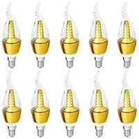 10Pcs LED Candle Angular Bulb 5 watt warm light