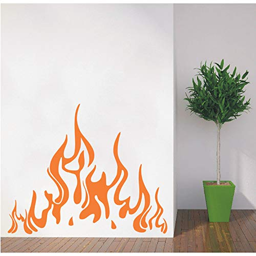 LETAMG Wandsticker Spezielle Wandtattoos Feuer Flamme Aufkleber Vinyl Aufkleber Kamin Home Decor Art Wohnzimmer Interior Decor Poster -