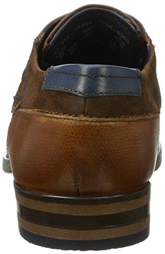 Bugatti 312164041134, Derby Homme Marron (Cognac / Cognac)