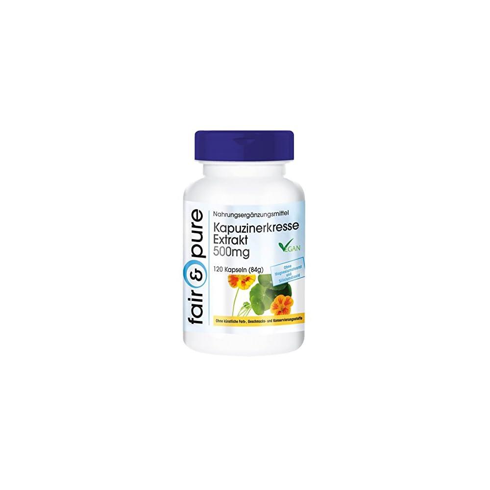 Kapuzinerkresse Extrakt 500mg 4 Fach Konzentriert Natrlich Vegan Ohne Magnesiumstearat 120 Kapuzinerkresse Kapseln