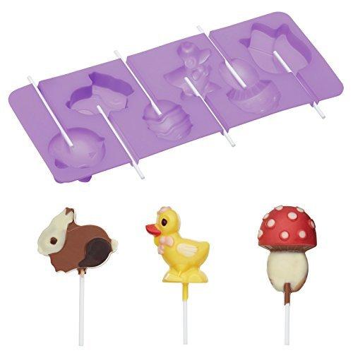 Sweetly Does It Hoppity Lollipop-Form - 24x9,5x1,5cm - Silicon (Eis Am Stiel Cake Pan)